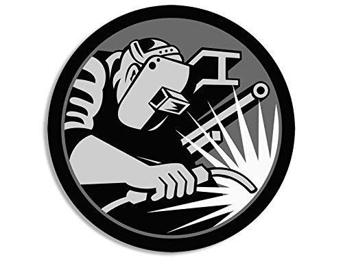 Rund Hardhat Größe Welder Logo Aufkleber (Schweißen Schweißen)