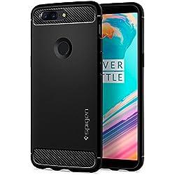 spigen K05CS22712 Funda Negro Funda para teléfono móvil - Fundas para teléfonos móviles (Funda, OnePlus, OnePlus 5T, Negro)