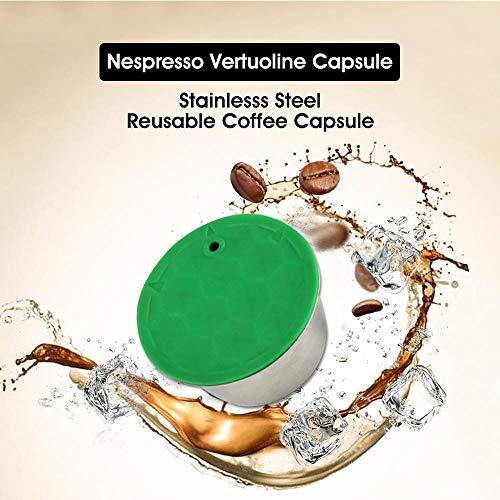 Volwco Cápsulas de café Reutilizables, cápsulas de café rellenables de Acero Inoxidable para Nescafe Dolce Gusto Stelia