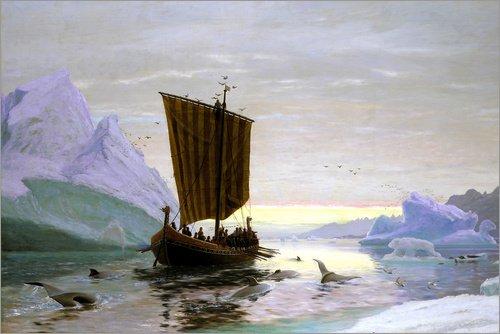 Póster 30 x 20 cm: Erik The Red Discovered Greenland de Jens Erik Carl Rasmussen/ARTOTHEK - impresión artística, Nuevo póster artístico