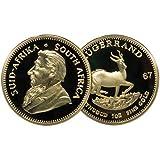 1967 Krügerrand Medaille - vergoldet - Scherzartikel