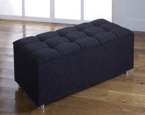 cubed-chenille-diamante-ottoman-toy-storage-blanket-box-various-colours-black