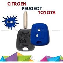 Carcasa Caparazón Multicolor Material Silicona Suave para concha Llave Teclas Coche Peugeot 106 107 206 207