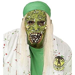 WIDMANN vd-wdm00384Máscara Medio Viso con pelo Zombie, verde, talla única