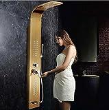 YUSHI 304 Rostfreier Stahl Duschwand Mischventil Badewanne Wasserhahn Intelligent Konstante Temperatur Gold