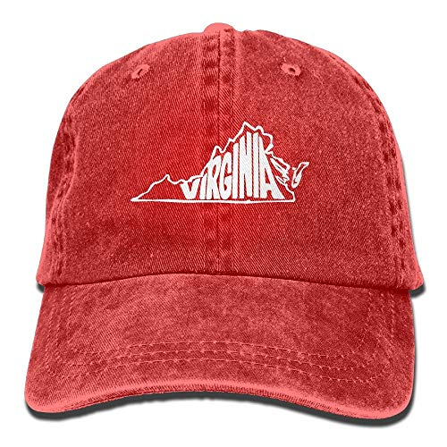 2018 Adult Fashion Cotton Denim Baseball Cap Virginia State Classic Dad Hat Adjustable Plain Cap -