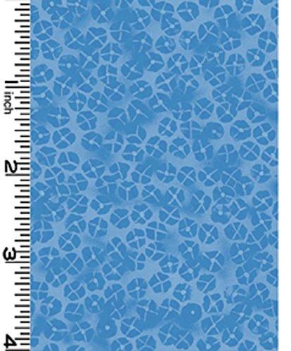 Fat Quarter Nobu Serene blau, Baumwolle, Kona Bay -