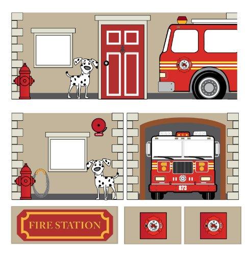 feuerwehr gardine Dorel Home Produkte Vorhang Set für Junior Loft Bett, Feuerwehr