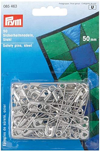 Prym Sicherheitsnadeln silberfarbig 50 mm 50 St