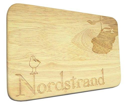 Brotbrett Nordstrand Nordsee Frühstücksbrett Gravur