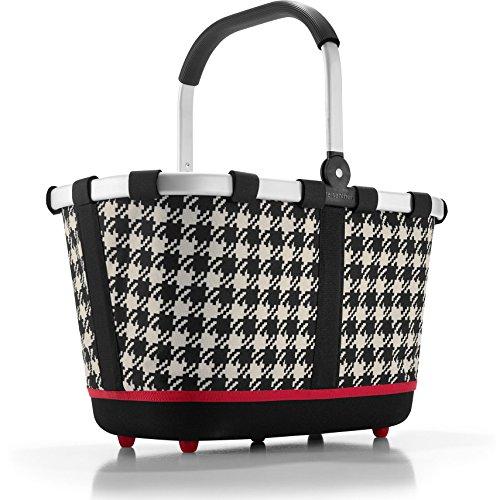 Reisenthel - Paniere, cesto per la spesa/da picnic con manici, colore e motivo a scelta, artist stripes (multicolore) - BL3058 Fifties Black