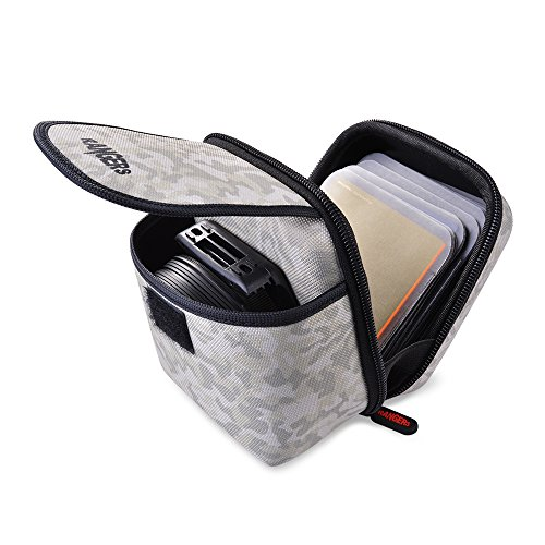 Rangers Professional Objektiv Filter Beutel mit 12 Filter Schutzhülsen und Karabiner für Runde oder quadratische Filter (Tarnung) RA107
