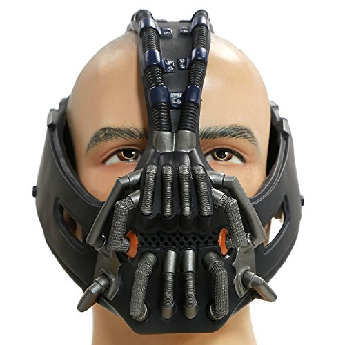 Cosplay Herren Erwachsene Gesicht Silber Masken Kostüm Stütze Fancy Dress Karneval Party 2 Version (Bane Halloween-party)