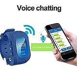 Uhren für Kinder,TURNMEON® intelligent uhr mit GPS WIFI Anti-lost Tracker Smart watch Handy mit SIM SOS Armband für Smartphone (Dark Blue) - 7