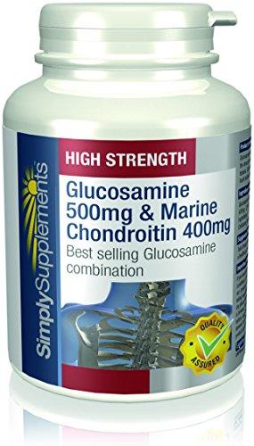 Glucosamina 500mg e Condroitina 400mg|Clinicamente testato|2x 180 Capsule Aiuta il corretto funzionamento delle articolazioni (Glucosamina Solfato Msm)
