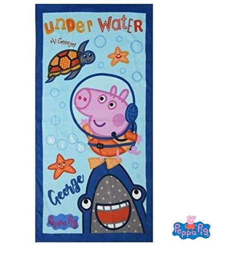 Peppa Pig - Tolle Gechenkidee für Kinder - Handtuch/Saunatuch / Strandtuch/Duschtuch / Badetuch - 70 x 140 cm - 100% Baumwolle - für Jungs