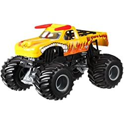 Hot Wheels Monster Jam El Toro Loco Yellow Die-Cast Vehicle, 1:24 Scale by Hot Wheels