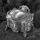 CCDZ Schatz-Kasten Ms Jewelry European Style Retro Mit Füßen Muster-Schmuckkästchen,A
