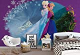 Disney Frozen Eiskönigin Elsa Anna - Wallsticker Warehouse - Fototapete - Tapete - Fotomural - Mural Wandbild - (834WM) - XL - 208cm x 146cm - VLIES (EasyInstall) - 2 Pieces