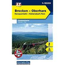 Outdoorkarte 17 Brocken - Oberharz 1 : 35.000: Wandern, Rad. Harzquerbahn (Kümmerly+Frey Outdoorkarten Deutschland)
