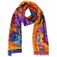 Laurel Burch Cat Classic Scarf (Feline Tribe)