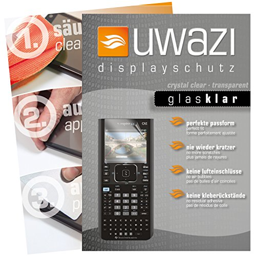 Texas Instruments TI Nspire CX Taschenrechner Schutzfolie 5x uwazi glas-klare Displayschutzfolie Folie