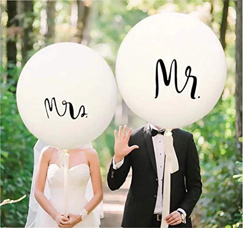 RepairMedia-Shop ★ 2X XXL Luftballon Mr. und Mrs. 91cm Hochzeit Wedding Dekoration Heiratsantrag Liebeserklärung ★