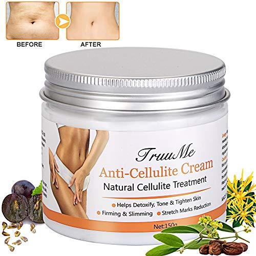 TruuMe Cellulite Creme, Anti Cellulite Creme, Cellulite Massage, firming Cream gegen Cellulite & Orangenhaut, Behandlung von Schwangerschaftsstreifen, Verbesserung der Hautkontur(150g)