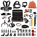 Pieviev Kit de Accesorios para Gopro HERO5 Negro (60 + Items, Incluido HERO5 Black Frame) (58-IN-1)