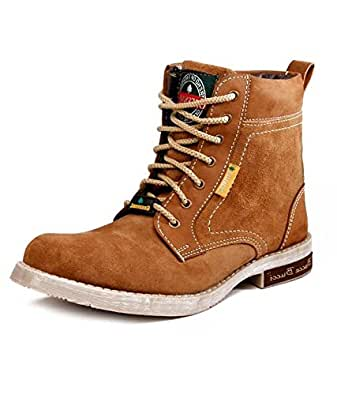 Bacca Bucci Men Tan Genuine Leather Boots 10 Uk