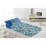 Juego de sábanas PAW PATROL 3 piezas,+cojín, cama de 90cm.