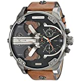 MARKEN Herren Armbanduhr Chronograph XL Leder Braun 7332
