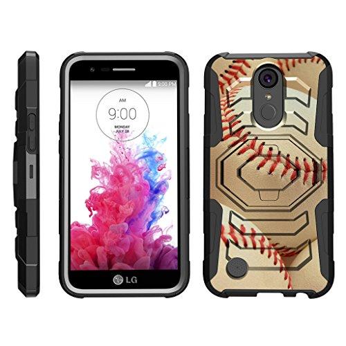 turtlearmor | Kompatibel für LG K20V Fall | K20Plus Fall | K102017Case [Octo Guard] Heavy Impact Schutzhülle Tough Hard Ständer Gürtelclip Holster Sport und Spiel -, Pile of Baseballs (Verizon Lg Screen Protector)