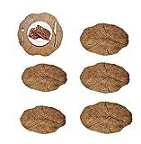 ZUEN 6 Stücke Große Tischsets, Hitzebeständige rutschfeste Tischsets, Holz Platzierung Pad Lotus Form Tee Tasse Schüssel Dekoration Coaster