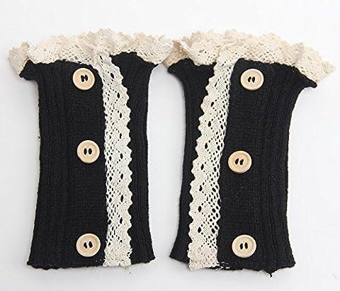 Fletion Mode d'hiver femmes dames Jambières tricotés Stocking fortes chaussettes longues Paire de Dame Genou Haut Crochet Jambières Chaussettes cadeau