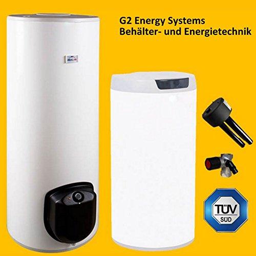 200 Liter elektrischer Warmwasserspeicher, Standspeicher mit integrierter Keramikheizpatrone 3-6 kW Leistung