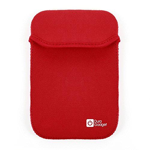 Für den Casio FX-991 DE Plus Grafiktaschenrechner: 2-in-1 Schutzhülle in SCHWARZ-ROT aus wasserabweisendem Neopren-Material - von DuraGadget