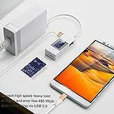 USB Cable,Zeuste Micro USB Cable de Carga rápida Android USB cable de datos  Dorado(3 piezas 2M)