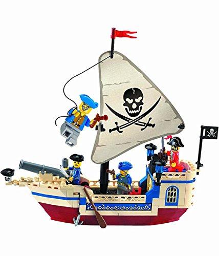 Ela illuminare nave pirata con 4 mini-figure - alta qualità e grande valore 188pcs (304)