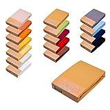 Finest Selection PREMIUM - SPANNBETTLAKEN/SPANNBETTTUCH/LAKEN F. WASSERBETT & BOXSPRINGBETT - 180x200 bis 200x220cm BRONZE 3% ELASTAN 97% FEINSTE MAKO BAUMWOLLE JERSEY 195gr/m² - BLICKDICHT