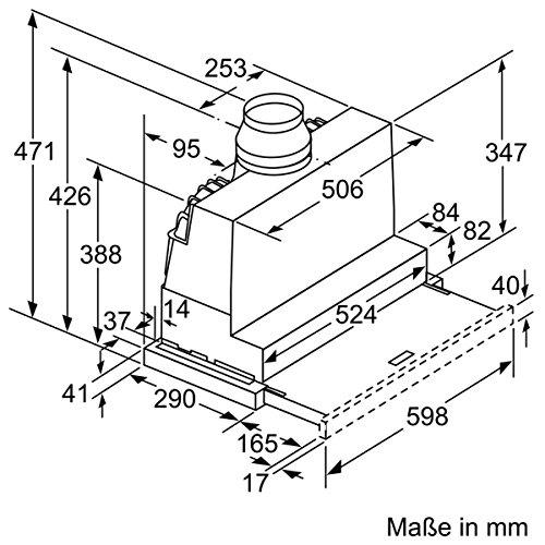 Bild 3: Neff DED4652X (D46ED52X0) / Flachschirmhaube 60cm Wahlweise Abluft- oder Umluftbetrieb