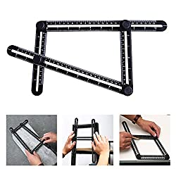 Angleizer Template Tool, Austor Multi Angle Measurement Tool Angle Rulers For Handymen, Builders, Craftsmen, Hanging Tile,laying Floors,cutting Stone, Black