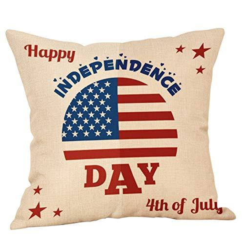 OPAKY Decor Kissenbezug Independence Day Stil Dekokissenbezug Kissenbezüge