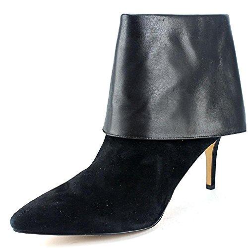 INC International Concepts Talla Spitz Leder Mode-Stiefeletten Black
