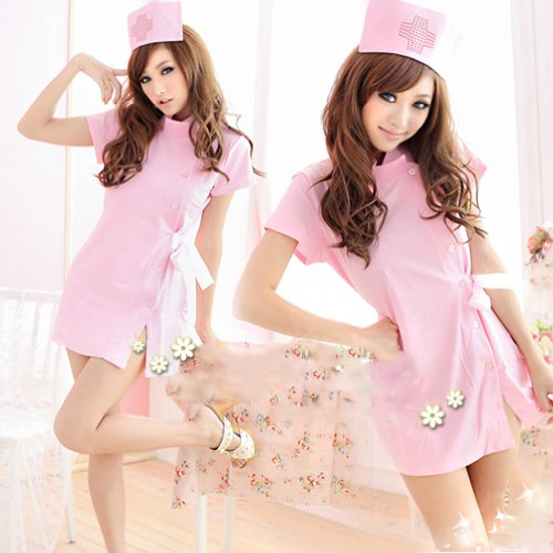 anta-also-nurse-cosplay-costume-fancy-dress-nurse-uniform-nurse-cap-pink-from-today-japan-import