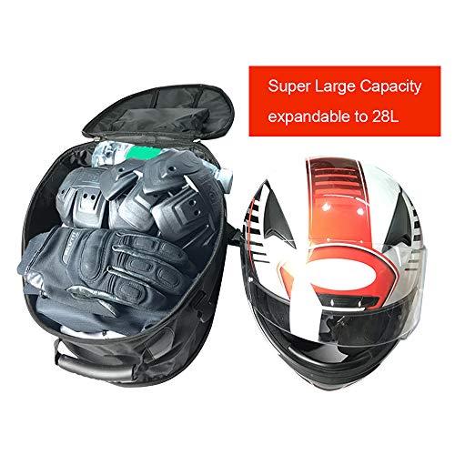 KKmoon Bolsa Asiento Trasero Moto 28L, Impermeable