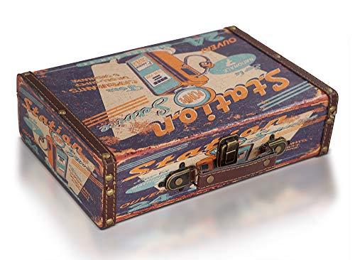 Brynnberg Schatztruhe Koffertruhe 30x20x8cm - Piratenkiste, Aufbewahrungsbox, Schatzkiste, Deko Koffer Antik - Ei-korb Antike