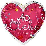 Alles Liebe 40 XL Ø 45cm   Folien Ballon Zum 40. Geburtstag   Helium Geeignet