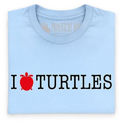 I Heart Turtles T-Shirt, Damen Himmelblau