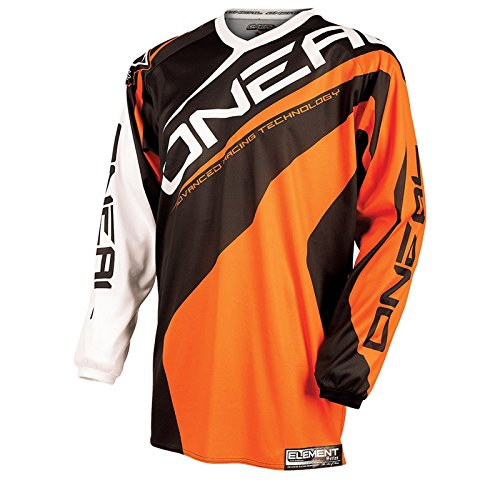 O'Neal Element Jersey RACEWEAR Trikot Orange Moto Cross Mountain Bike Enduro MTB MX DH FR, 0024R-4, Größe Medium (Off-road-mountain-bike)